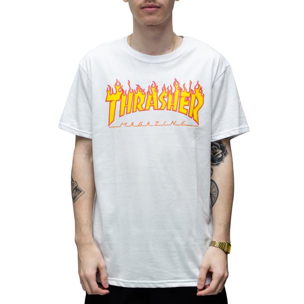 Camiseta Thrasher Flame Branca
