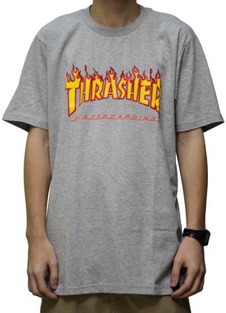 Camiseta Thrasher Flame Cinza