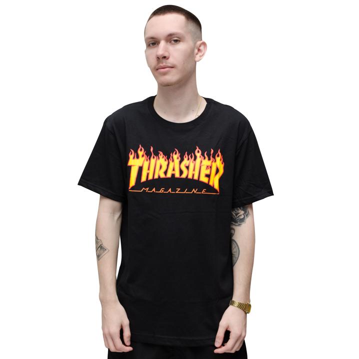 Camiseta Thrasher Flame Preta