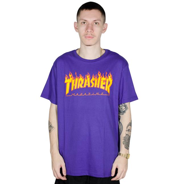 Camiseta Thrasher Flame Roxa