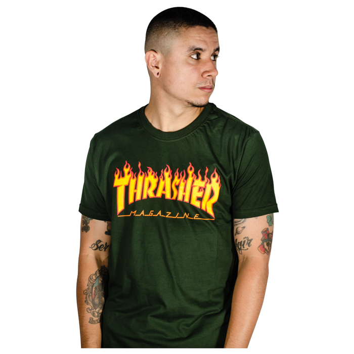 Camiseta Thrasher Flame Verde