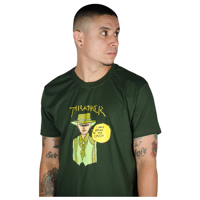 Camiseta Thrasher Gonz Cash Witch Verde
