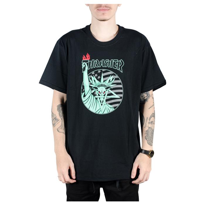 Camiseta Thrasher Libert Goat Preto