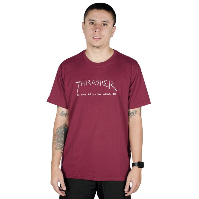 Camiseta Thrasher New Religion Bordô