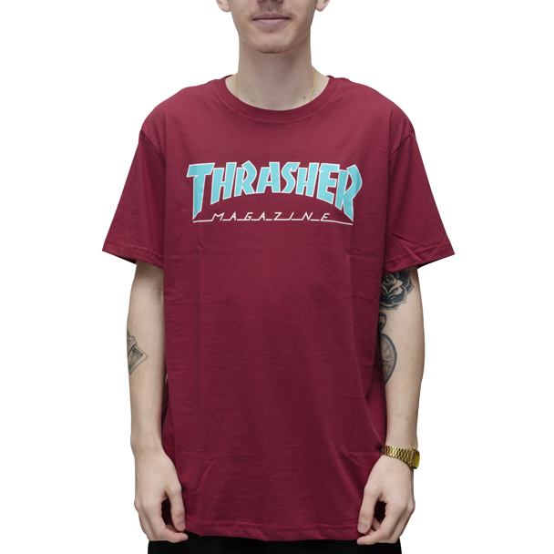 Camiseta Thrasher Outlined Bordo Big