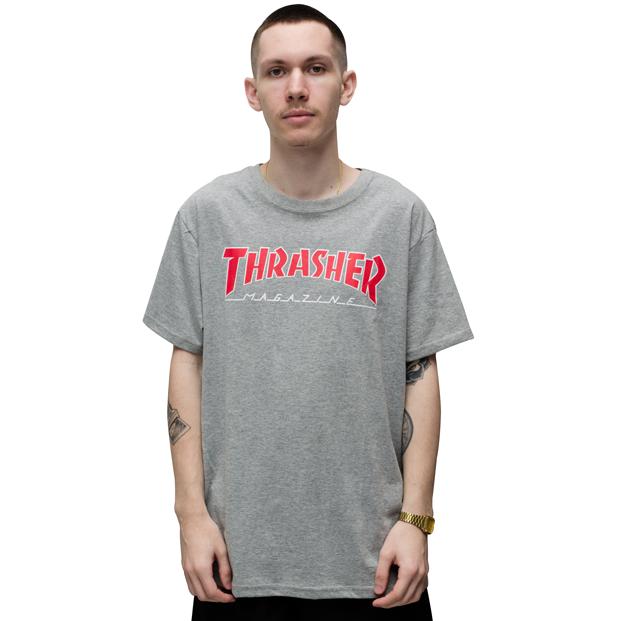 Camiseta Thrasher Outlined Cinza
