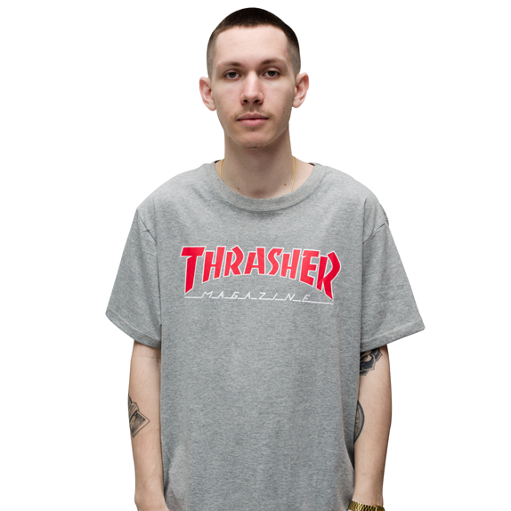 Camiseta Thrasher Outlined Cinza BIG