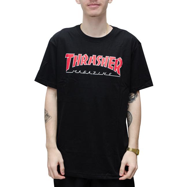 Camiseta Thrasher Outlined Preta