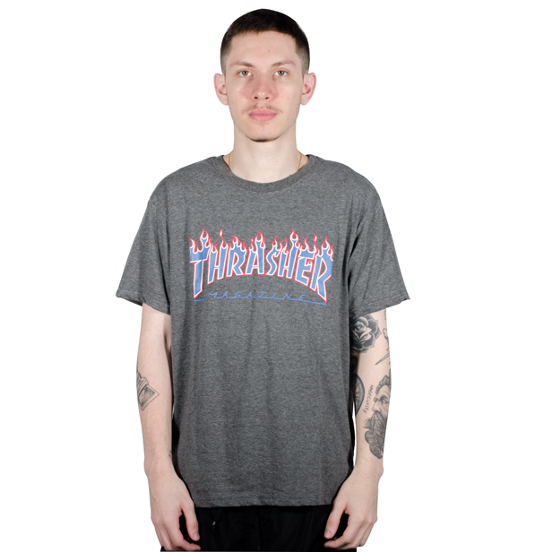 Camiseta Thrasher Patriot Mescla Cinza