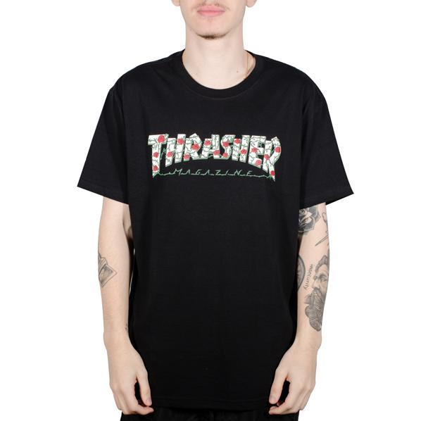 Camiseta Thrasher Roses Preta