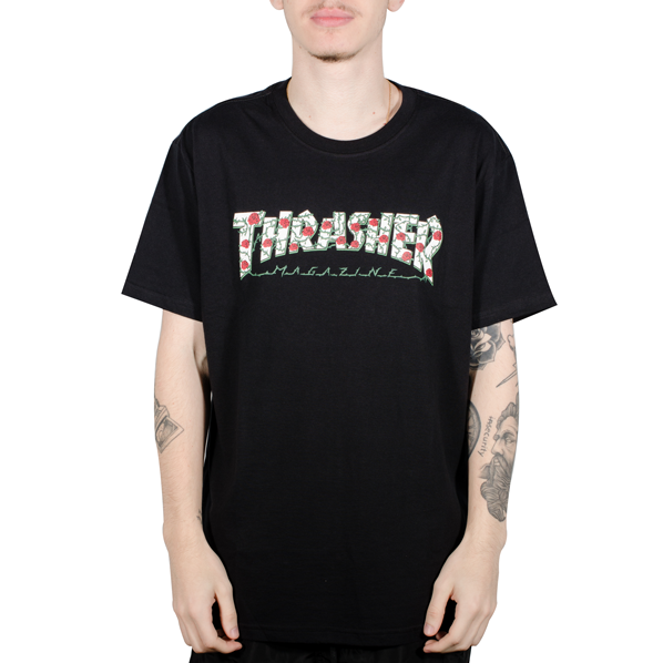 Camiseta Thrasher Roses Preta Big