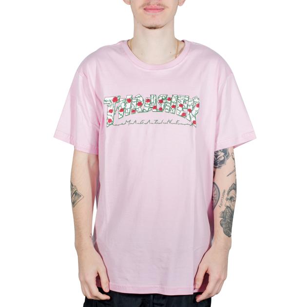 Camiseta Thrasher Roses Rosa