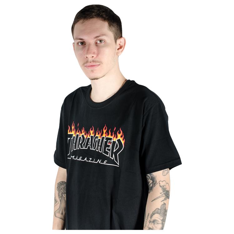Camiseta Thrasher Schorched Preta