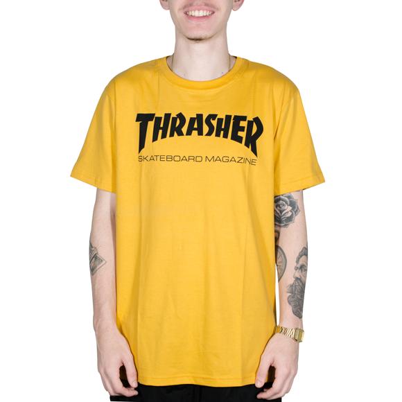 913b90a16 Camiseta Thrasher Skate Mag Mostarda