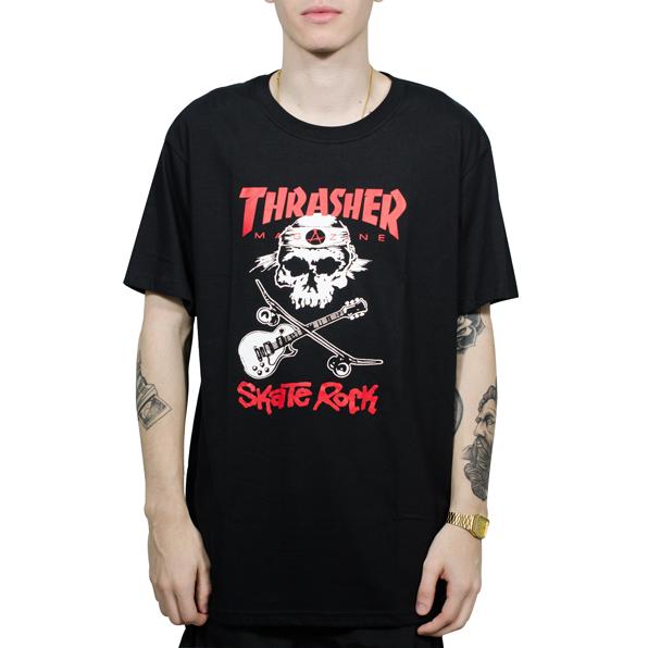 1cda3114f Camiseta Thrasher Skate Rock Preta