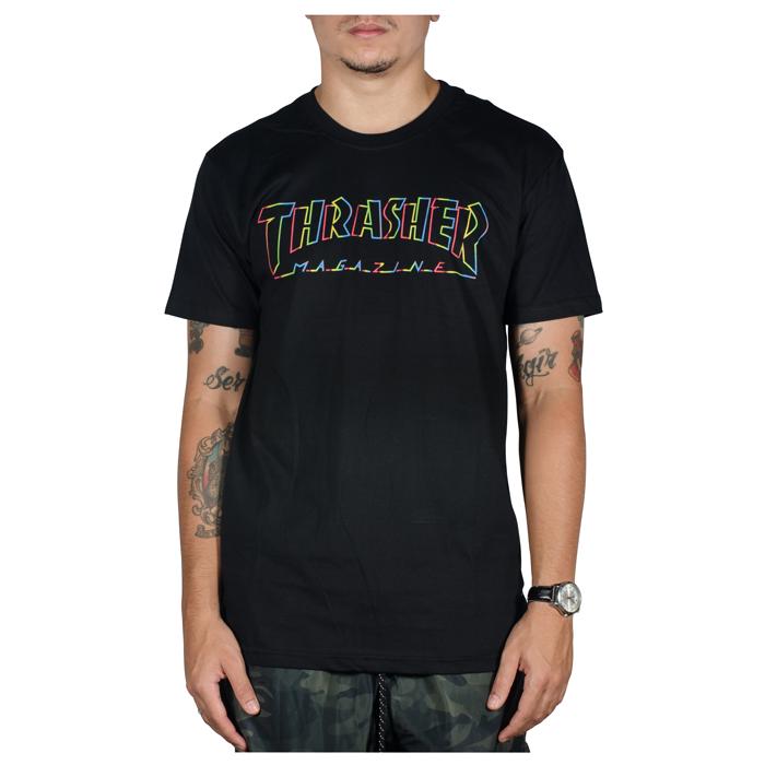 Camiseta Thrasher Spectrum Preta
