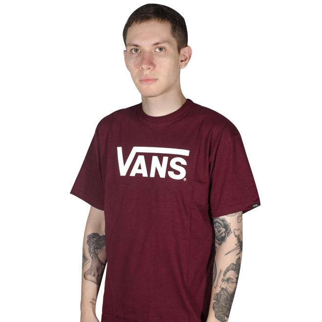 Camiseta Vans Classic Bordô