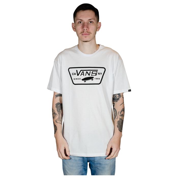 Camiseta Vans Classic Full Patch Branca