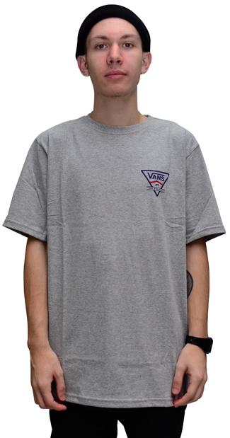 Camiseta Vans Classic Side Stripe Atletic Heather Mescla Cinza