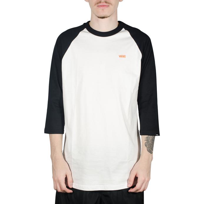 Camiseta Vans Dexter Raglan Branca/Preta