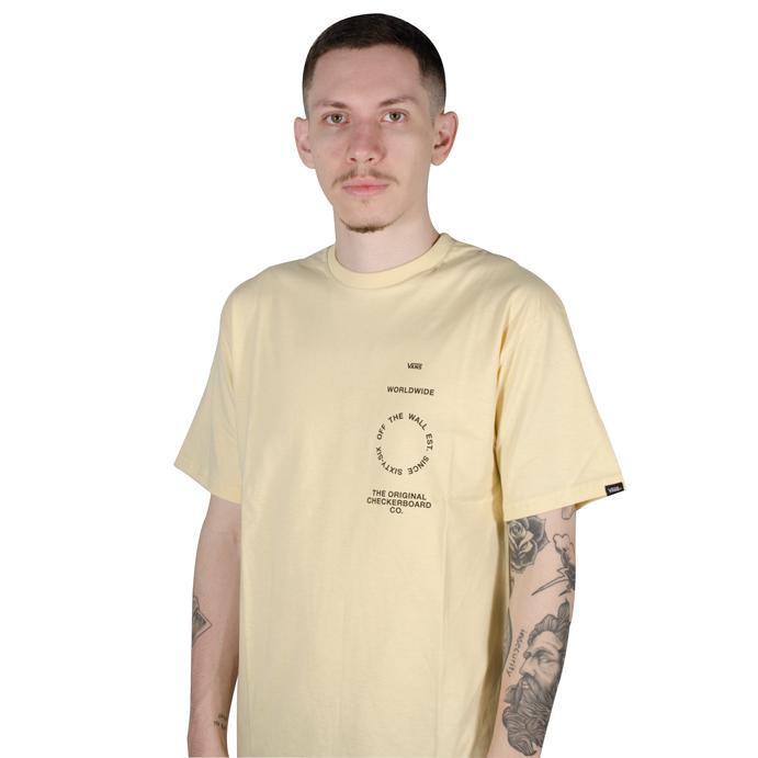 Camiseta Vans Distortion Type SS Creme