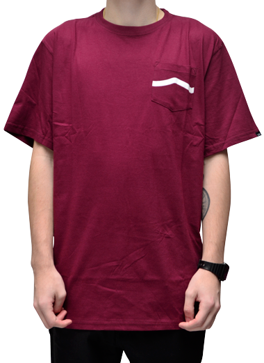 Camiseta Vans Side Stripe Pocket Bordo