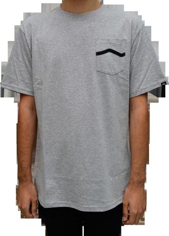 Camiseta Vans Side Stripe Pocket Cinza