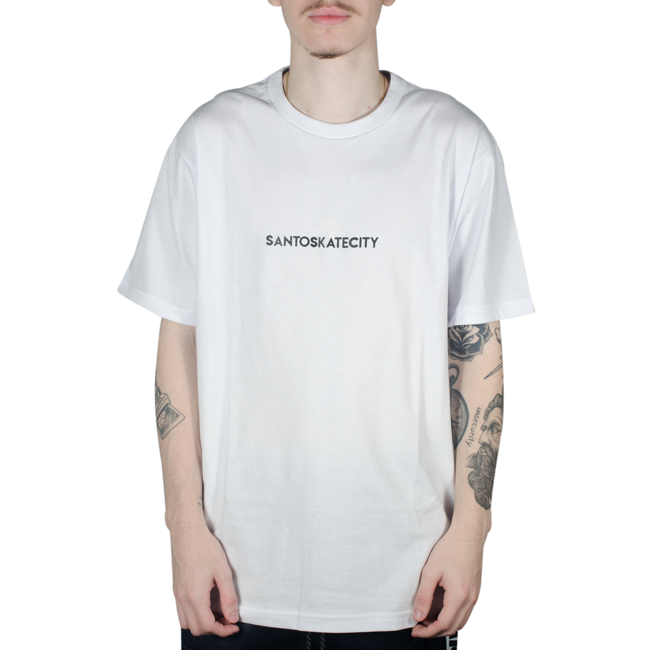 Camiseta Via SantoSkateCity Branca