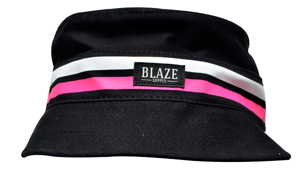 Chapéu Bucket Blaze Logo Stripes Black