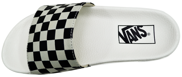 Chinelo Vans Slide-On Checkboard Branco / Feminino