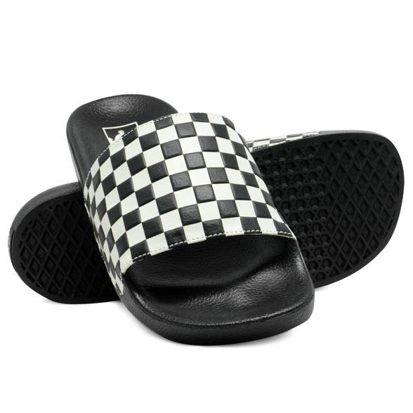 Chinelo Vans Slide-On Checkerboard Preto / Branco