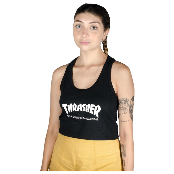 Cropped Regata Thrasher Skate Mag Preta