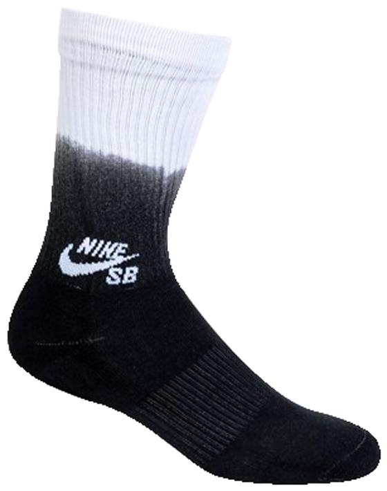 Meia Nike Sb Fade Graphic Crew Preto / Branco