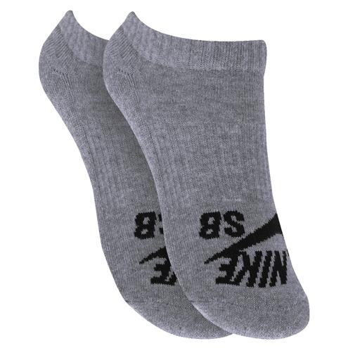 Meia Nike Sb Invisible Cinza ( 3 Pares)