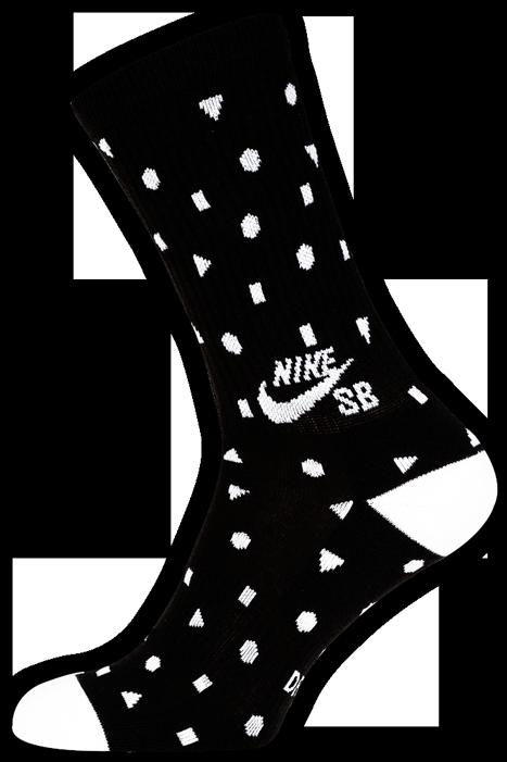 Meia Nike Sb Media Estampada Preto/ Branco - (1 par)