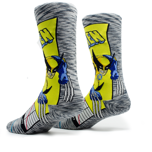 Meia Stance Wolverine Comic Cinza