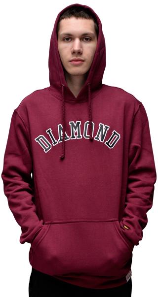 Moletom Diamond Arch Hoddi Bordo