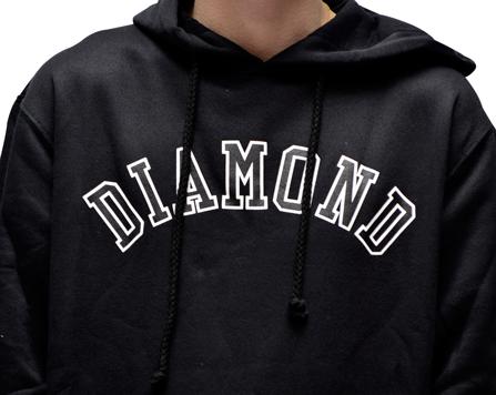 Moletom Diamond Arch Hoddi Preto