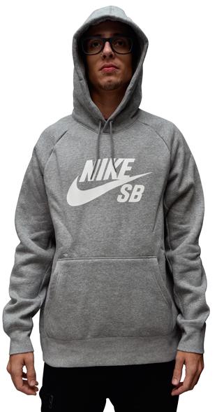 Moletom Nike Sb Canguru Mescla Cinza