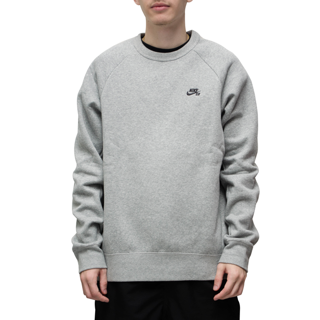 Moletom Nike SB Icon Crew Fleece Cinza