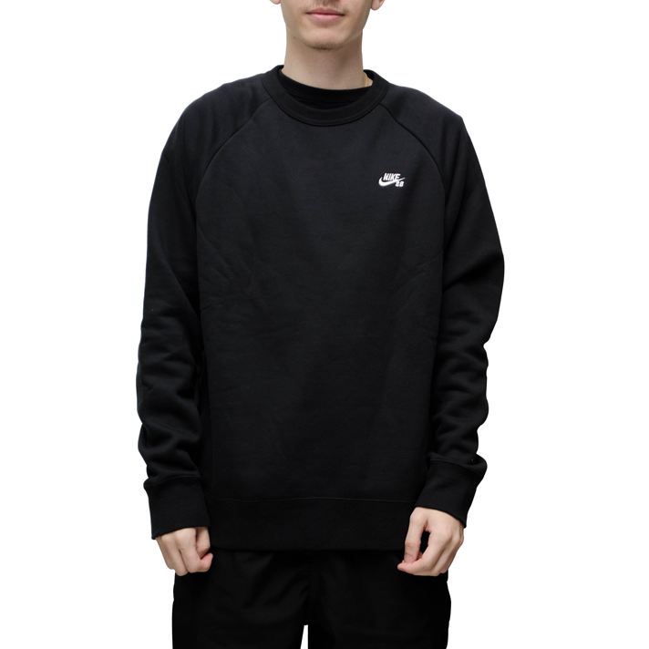 Moletom Nike SB Icon Crew Fleece Preto