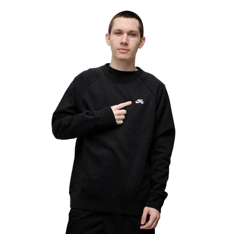 Moletom Nike SB Icon Crew Fleece Preto