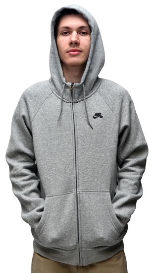 35de951694 Moletom Nike Sb Zíper Mescla Cinza
