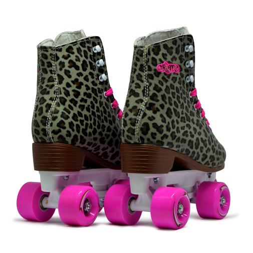 Patins Quad Infantil e Adulto Creme Leopard Skin RL14 54mm / Abec7