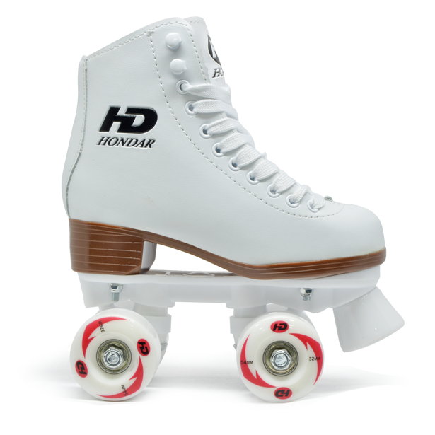 Patins Quad Infantil e Adulto Hondar Branco 54mm Abec-7