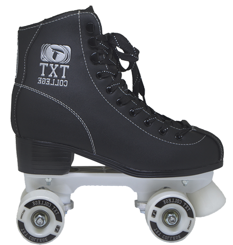 Patins Quad Traxart College 58mm Abec 7 Preto / Branco
