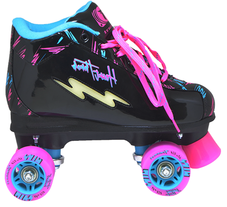 Patins Traxart Heart Quad 60mm Abec 5 Rosa / Preto