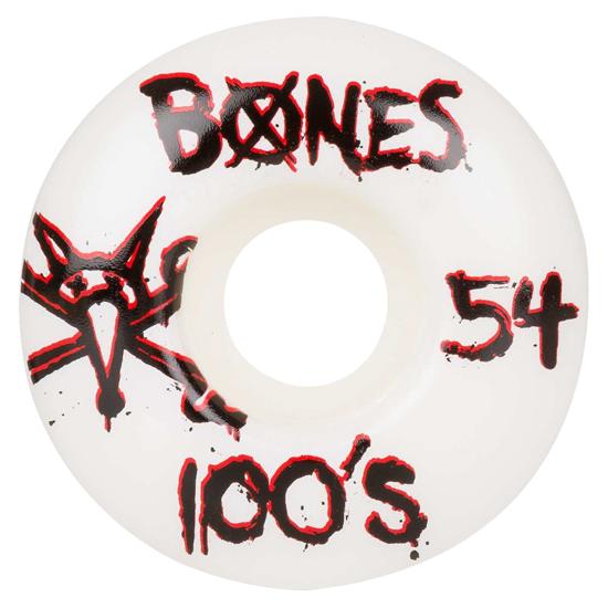 Roda Bones 100's 54mm Branca - 4unid.