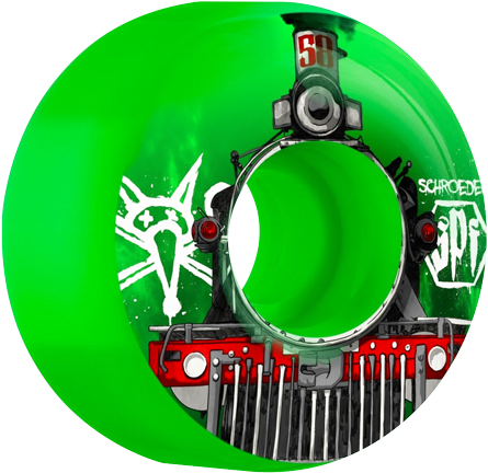 Roda Bones SPF 58mm 84b Schroeder Train Verde - 4unid.