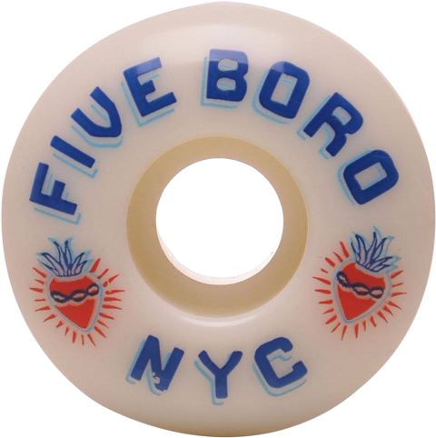 Roda Street Five Boro Cinco Barrios 53mm 100A - 4 unid.